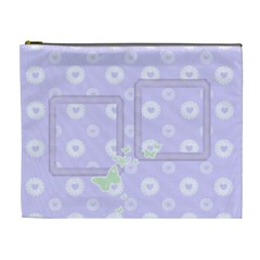 Lilac Hearts Cosmetic Bag Xl By Purplekiss   Cosmetic Bag (xl)   Dmphoq2nj58r   Www Artscow Com Front