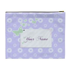 Lilac Hearts Cosmetic Bag Xl By Purplekiss   Cosmetic Bag (xl)   Dmphoq2nj58r   Www Artscow Com Back