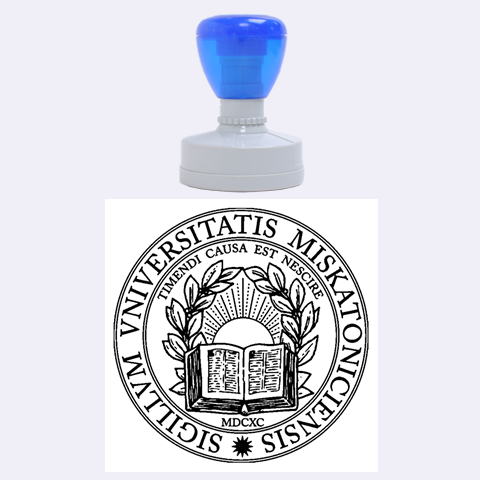 Miskatonic University Seal By Travis Bish   Rubber Stamp Round (large)   6kb0yyuljet4   Www Artscow Com 1.875 x1.875  Stamp