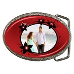 Flower red - Belt Buckle