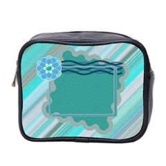 Blue Toiletries Bag By Daniela   Mini Toiletries Bag (two Sides)   Wcc7le9jx5ri   Www Artscow Com Front
