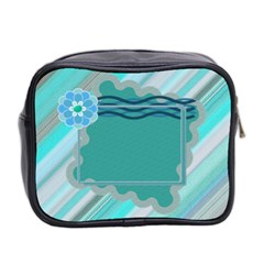 Blue Toiletries Bag By Daniela   Mini Toiletries Bag (two Sides)   Wcc7le9jx5ri   Www Artscow Com Back
