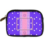 Purple camera leather case - Digital Camera Leather Case