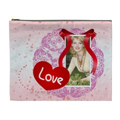 Love By Joely   Cosmetic Bag (xl)   D7997i016bgv   Www Artscow Com Front