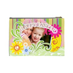 Happy Easter By Joely   Cosmetic Bag (large)   87qibjjeoyxr   Www Artscow Com Back