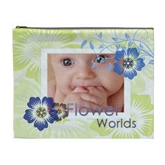 Flower Bag By Joely   Cosmetic Bag (xl)   Y0gwi7mdv2py   Www Artscow Com Front