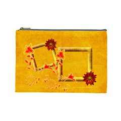 Red Orange Cosmetic Bag L By Elena Petrova   Cosmetic Bag (large)   Owreu2zhbafg   Www Artscow Com Front