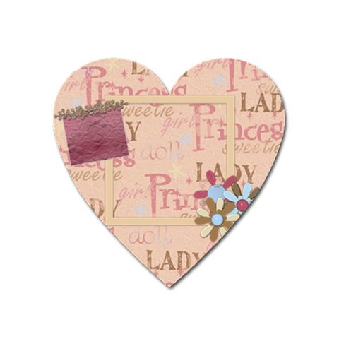 ABC Skip Heart Magnet 1 by Lisa Minor Front