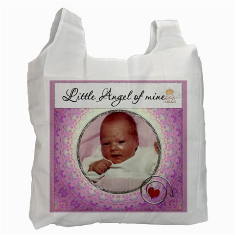 Little Angel Of Mine Girl Recycle Bag By Lil    Recycle Bag (one Side)   Hvfax0ujewxy   Www Artscow Com Front