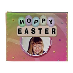 Hoppy Easter Xl Easter Treat Bag (cosmetic Bag) By Lil    Cosmetic Bag (xl)   5jjiv5h79c9y   Www Artscow Com Front