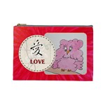 pink cosmetic bag LOVE - Cosmetic Bag (Large)