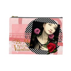 V Day By Joely   Cosmetic Bag (large)   I3ig0cnlt1sv   Www Artscow Com Front