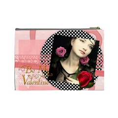V Day By Joely   Cosmetic Bag (large)   I3ig0cnlt1sv   Www Artscow Com Back