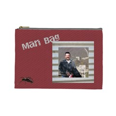 Man Bag 2 By Deborah   Cosmetic Bag (large)   Du4djtio4jk5   Www Artscow Com Front