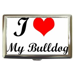 I Love My Bulldog Cigarette Money Case by adriantesting
