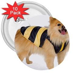 Dog Photo 3  Button (10 Pack)