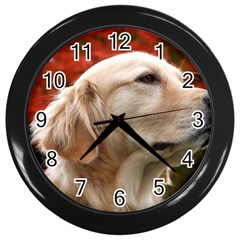 Dog Photo Cute Wall Clock (black)
