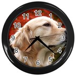 dog-photo cute Wall Clock (Black) Front
