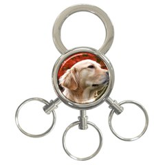 Dog Photo Cute 3 Ring Key Chain by adriantesting