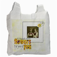 Flower Friends Recycle Bag Double Sided By Catvinnat   Recycle Bag (two Side)   8aui9kmj2w6q   Www Artscow Com Front