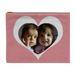 My Heart Xl Cosmetic Bag By Daniela   Cosmetic Bag (xl)   J0o14422kuvt   Www Artscow Com Front
