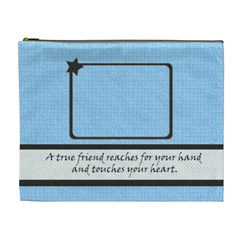 True Friend Xl Cosmetic Bag By Daniela   Cosmetic Bag (xl)   Un3hn3vneoro   Www Artscow Com Front