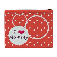 I Love Mommy Xl Cosmetic Bag By Daniela   Cosmetic Bag (xl)   Bg239r0ra5xw   Www Artscow Com Back