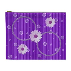 Purple Xl Cosmetic Bag By Daniela   Cosmetic Bag (xl)   3x07o8l4cmv4   Www Artscow Com Front
