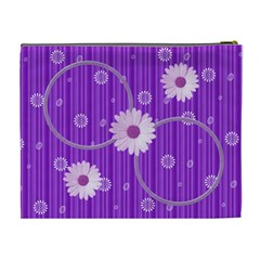 Purple Xl Cosmetic Bag By Daniela   Cosmetic Bag (xl)   3x07o8l4cmv4   Www Artscow Com Back