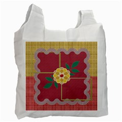 Flower Recycle Bag By Daniela   Recycle Bag (two Side)   Zdvtz3cd9ozv   Www Artscow Com Front