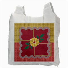 Flower Recycle Bag By Daniela   Recycle Bag (two Side)   Zdvtz3cd9ozv   Www Artscow Com Back
