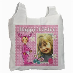 Pink Happy Easter 1 By Lillyskite   Recycle Bag (two Side)   Enw1yqy39gg9   Www Artscow Com Front
