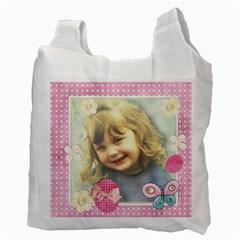 Pink Happy Easter 1 By Lillyskite   Recycle Bag (two Side)   Enw1yqy39gg9   Www Artscow Com Back