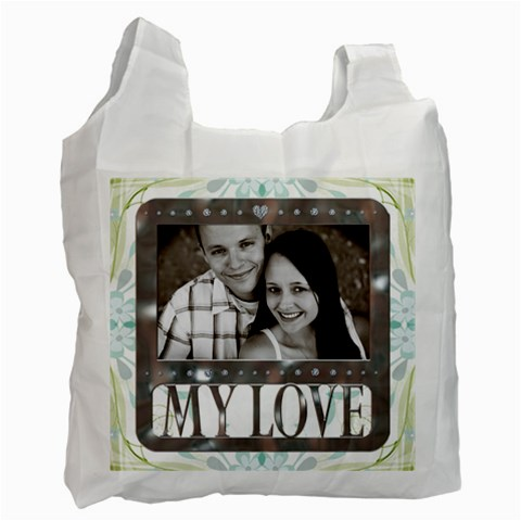 My Love Recycle Bag By Lil    Recycle Bag (one Side)   6ov6hg1bwtj7   Www Artscow Com Front