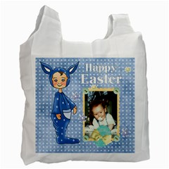Blue Happy Easter Bag 1 By Lillyskite   Recycle Bag (two Side)   Rfzchljslf1b   Www Artscow Com Front