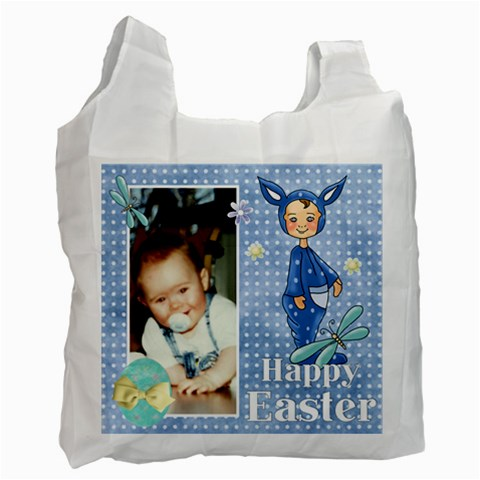 Blue Easter Bag 2 By Lillyskite   Recycle Bag (one Side)   Zh3jd6n34f2y   Www Artscow Com Front