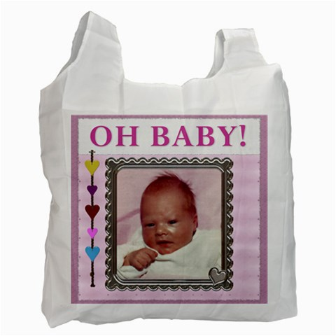 Oh Baby Girl Recycle Bag By Lil    Recycle Bag (one Side)   95xsrqd7k3x4   Www Artscow Com Front