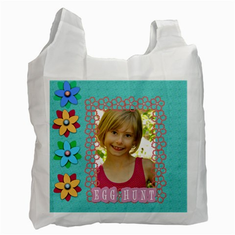 Egg Hunt Bag By Danielle Christiansen   Recycle Bag (one Side)   Njv9pvpco6ms   Www Artscow Com Front