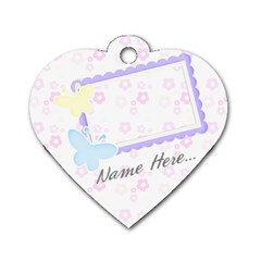 Pastels Heart Dog Tag By Purplekiss   Dog Tag Heart (two Sides)   Ib44le2o867a   Www Artscow Com Front