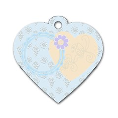 Baby Blue Heart Dog Tag By Purplekiss   Dog Tag Heart (two Sides)   Gx40js7boaxq   Www Artscow Com Front