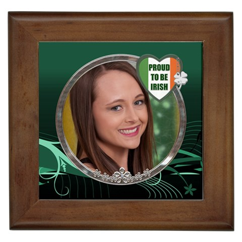 Proud To Be Irish Framed Tile By Lil    Framed Tile   Xvkyz2iayin7   Www Artscow Com Front