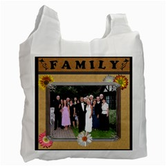 Happy Family 2 Sided Recycle Bag By Lil    Recycle Bag (two Side)   Eujosd0t7uad   Www Artscow Com Front