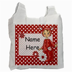 Red Easter Bag 1 By Lillyskite   Recycle Bag (two Side)   0ftddzmwlcz2   Www Artscow Com Front