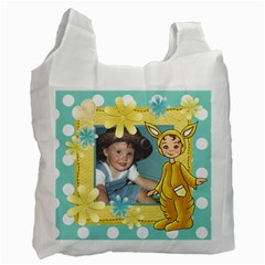 Easter Yellow Bag By Lillyskite   Recycle Bag (two Side)   Tkkffb5rwikm   Www Artscow Com Front