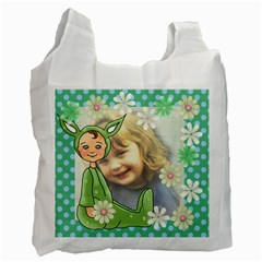 Green Easter Bag By Lillyskite   Recycle Bag (two Side)   Rdf00e9nfeq3   Www Artscow Com Front