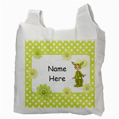 Lime Easter Bag By Lillyskite   Recycle Bag (two Side)   Eeohssqq1vay   Www Artscow Com Back