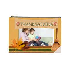 Thanks Giving Bag By Joely   Cosmetic Bag (large)   3sms5hdequbo   Www Artscow Com Front