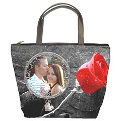 Red Rose Bucket Bag By Lil    Bucket Bag   72zsumgsizdz   Www Artscow Com Front