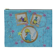 Eastereggs And Blue Chicks By Trine   Cosmetic Bag (xl)   1f9bo0a1oqki   Www Artscow Com Front