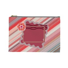 Red L Cosmetic Bag By Daniela   Cosmetic Bag (large)   797vaqlr6eb3   Www Artscow Com Front